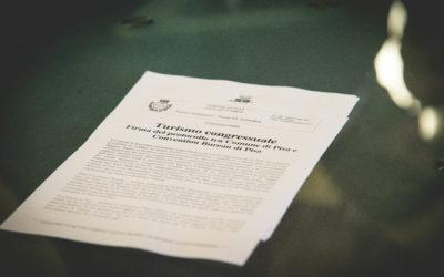Firma del Protocollo tra Comune di Pisa e Pisa Convention Bureau